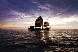 Sunset Cruise with dinner to the 4 Islands at Krabi on a traditional chinese Junk
