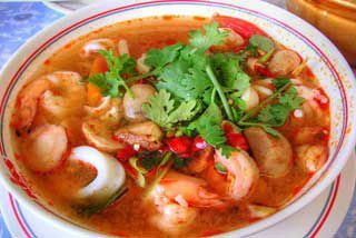 Tom Yam - spicy soup - Krabi cooking course