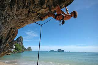Rock Climbing at Railay Beach Krabi